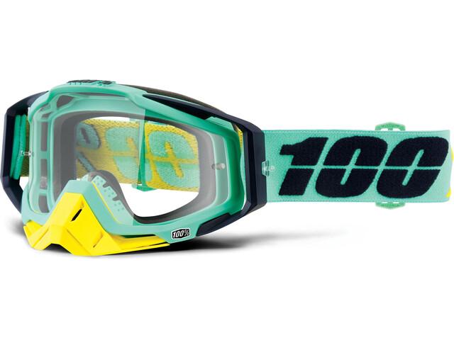 100% Racecraft Anti Fog Clear Goggles turkis (2019) | Briller